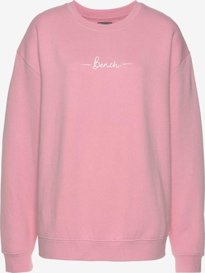 BENCH Sportsweatshirt in hellpink / weiß, Produktansicht