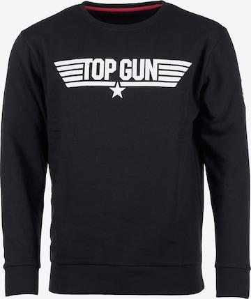 TOP GUN Sweatshirt in Schwarz