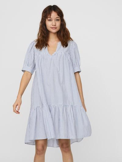 AWARE by Vero Moda Kleid 'PALMER' in taubenblau / weiß, Modelansicht