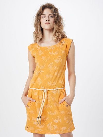 Ragwear Kleid 'TAG ROSE' in goldgelb / weiß, Modelansicht