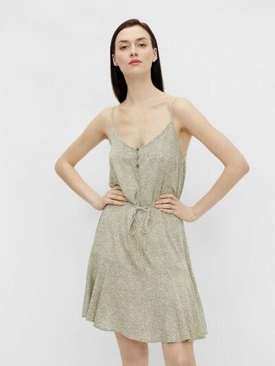 PIECES Kleid in hellgrün / weiß, Modelansicht