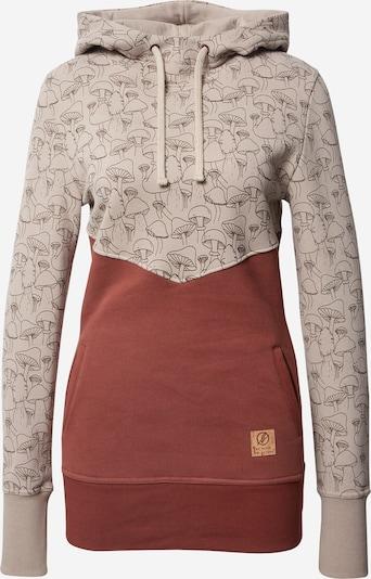 bleed clothing Sweater majica u taupe siva / crvena, Pregled proizvoda