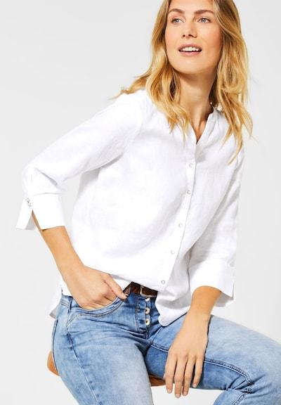 CECIL Leinen-Bluse in weiß, Modelansicht