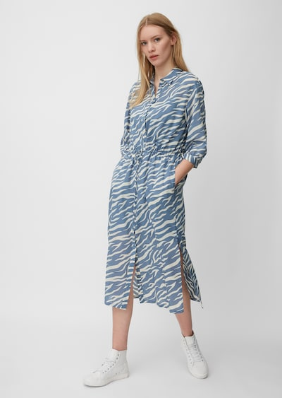 Marc O'Polo DENIM Kleid in creme / rauchblau, Modelansicht