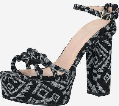 GLAMOROUS Remienkové sandále - čierna / biela, Produkt