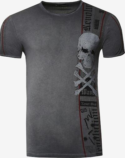 Rusty Neal T-Shirt im verwaschenen Look in schwarz, Produktansicht