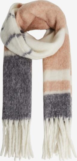 MANGO Schal 'Banda' in nude / taubenblau / orange, Produktansicht