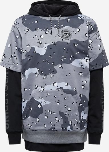 DC Shoes Sportsweatshirt 'Dryden' in taubenblau / grau / hellgrau / schwarz, Produktansicht