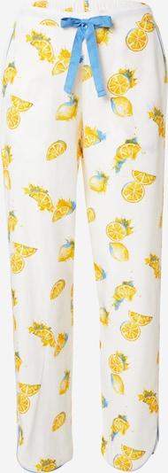Cyberjammies Pantalon de pyjama 'Phoebe' en bleu ciel / citron vert / olive / blanc, Vue avec produit