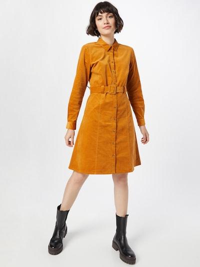 Rochie tip bluză 'MAURYA' NÜMPH pe maro coniac, Vizualizare model