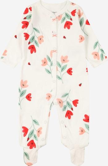 Carter's Schlafanzug in hellgrün / rot / pastellrot / weiß, Produktansicht