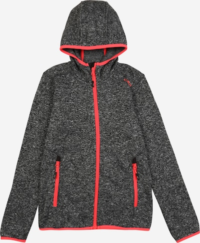 CMP Functionele fleece jas in de kleur Neonrood / Zwart, Productweergave