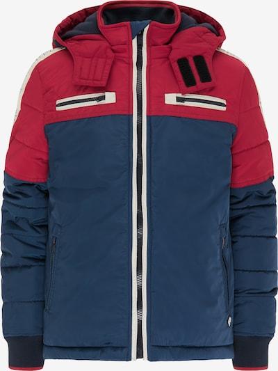 Petrol Industries Veste d'hiver en bleu marine / rouge / blanc: Vue de face