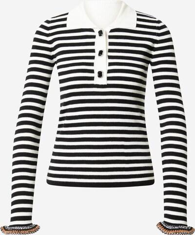 PINKO Pullover 'VIN SANTO' in orange / schwarz / weiß, Produktansicht