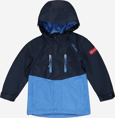 TROLLKIDS Outdoorjas 'Nusfjord' in de kleur Navy / Smoky blue, Productweergave