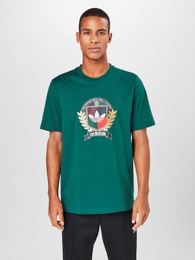 Marškinėliai 'College Crest' iš ADIDAS ORIGINALS , spalva - žalia / įdegio spalva / vyno raudona spalva / šviesiai raudona / balta: Vaizdas iš priekio
