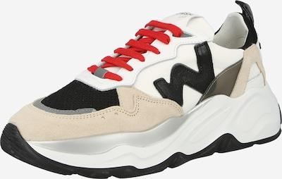 WOMSH Zemie brīvā laika apavi, krāsa - bēšs / melns / balts, Preces skats