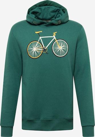 GREENBOMB Sweatshirt 'Bike Easy' i grønn