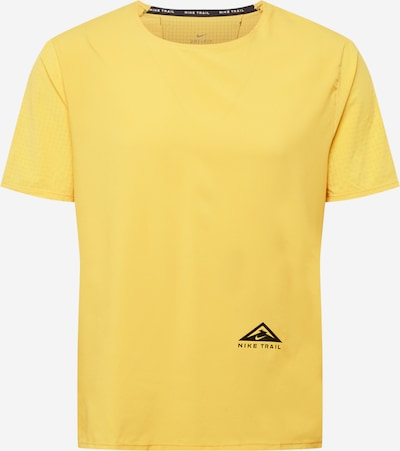 NIKE Camiseta funcional 'RISE 365' en amarillo / negro, Vista del producto