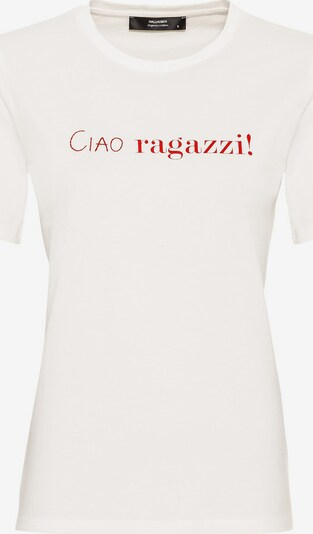 HALLHUBER T-Shirt in rot / naturweiß, Produktansicht