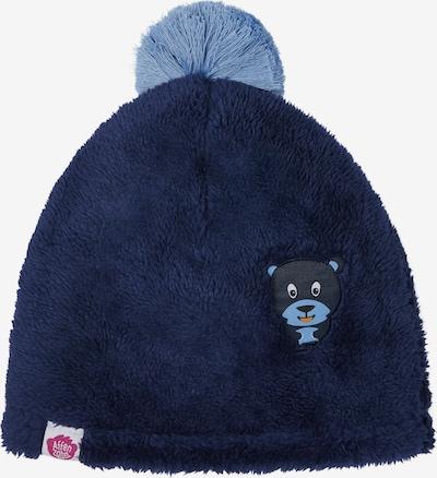 Affenzahn Kindermütze 'Bär' in blau, Produktansicht