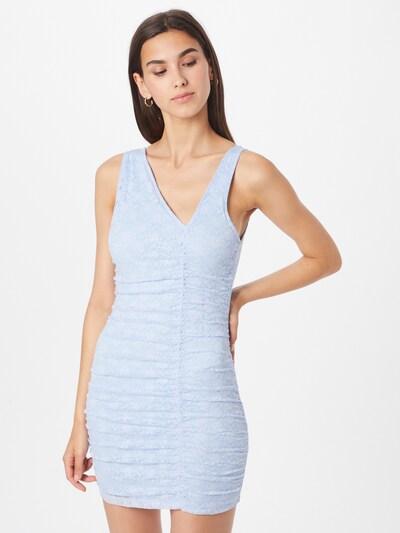 Motel Kleid in hellblau, Modelansicht