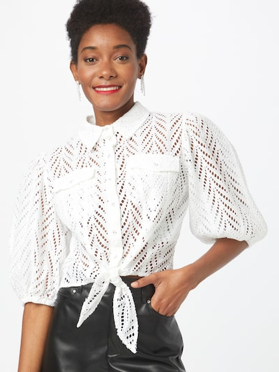 GUESS Blouse 'PHOEBE' in de kleur Wit, Modelweergave