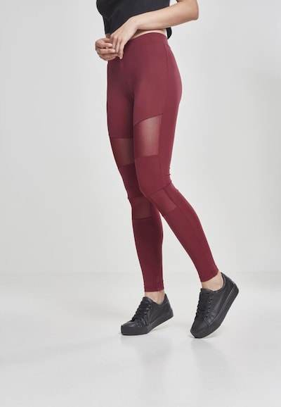 Urban Classics Leggings in weinrot, Modelansicht