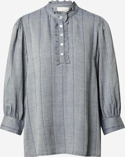 minus Bluse 'Lonny' in taubenblau / graumeliert, Produktansicht