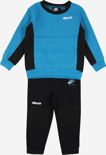 Nike Sportswear Survêtement en bleu roi / noir / blanc, Vue avec produit