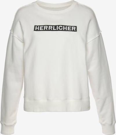 Herrlicher Sweatshirt in schwarz / weiß, Produktansicht