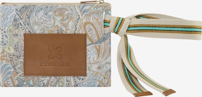 CODELLO Beauty Bag mit Paisley-Print aus Canvas in beige, Produktansicht