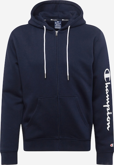 Champion Authentic Athletic Apparel Sweatvest in de kleur Navy / Vuurrood / Wit, Productweergave