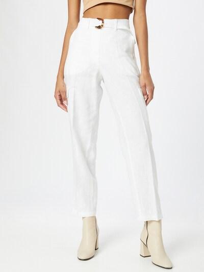 TAIFUN Hlače s naborima u prljavo bijela, Prikaz modela