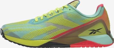 Reebok Sport Sportschuh 'Nano X1' in gelb / grau / mint / rot, Produktansicht