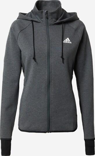 ADIDAS PERFORMANCE Sportsweatjacke in dunkelgrau / schwarz / weiß, Produktansicht