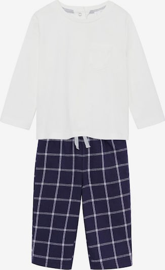 MANGO KIDS Pyjama 'pablo7' in royalblau / weiß, Produktansicht