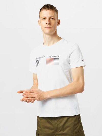 TOMMY HILFIGER T-Shirt en bleu nuit / rouge clair / blanc: Vue de face