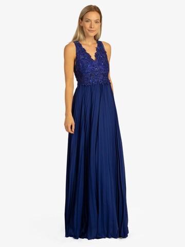 APART Abendkleid aus Mesh, Spitze, Chiffon in Blau