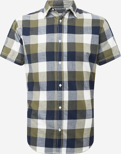 JACK & JONES Paita 'EDDIE' värissä marine / oliivi / valkoinen, Tuotenäkymä