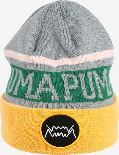 Sportinė kepurė 'Basketball Classic Cuff' iš PUMA, spalva – geltona / pilka / žalia / rožių spalva / juoda, Prekių apžvalga