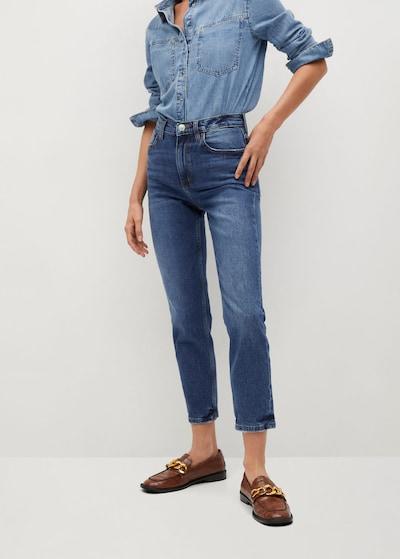 MANGO Jeans 'Newmom' in de kleur Donkerblauw, Modelweergave