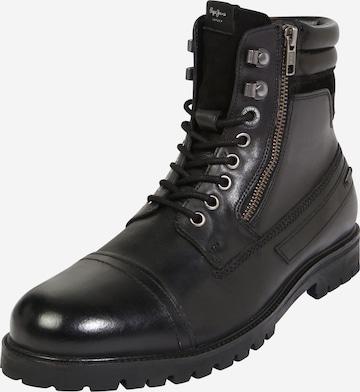 Bottes à lacets Pepe Jeans en noir