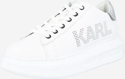 Karl Lagerfeld Nizke superge 'KAPRI' | srebrna / bela barva, Prikaz izdelka