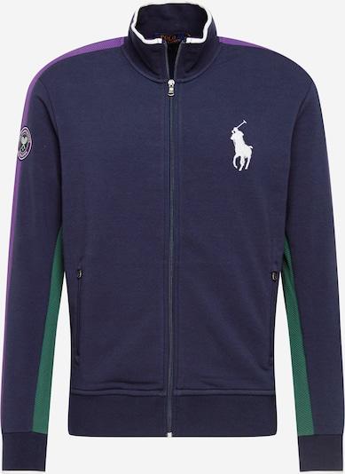 Bluză de molton POLO RALPH LAUREN pe verde iarbă / albastru violet / mov zmeură, Vizualizare produs
