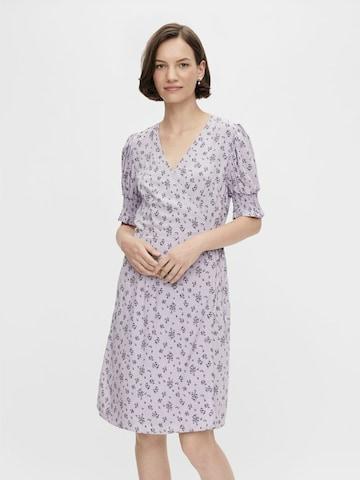 PIECES Shirt Dress 'Mikki' in Purple