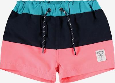 Pantaloncini da bagno 'Zoom' NAME IT di colore turchese / corallo / nero, Visualizzazione prodotti