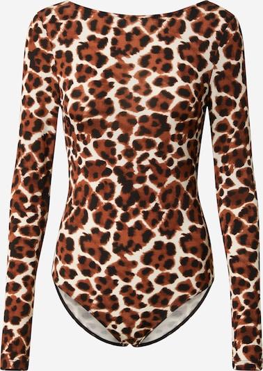 Samsoe Samsoe Shirtbody 'Fridoline' in beige / chamois / schwarz, Produktansicht