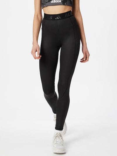 Pantaloni sport ADIDAS PERFORMANCE pe negru, Vizualizare model