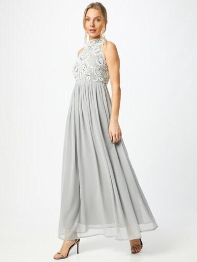 Sistaglam Společenské šaty 'LUNA' - kámen / bílá, Model/ka